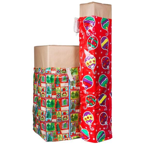 2 XL Christmas Holiday Gift Bags For Big Presents Set Tags