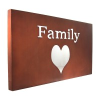 Family Heart Metal Wall ART Love Motivational Word Sign ...