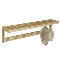 Solid Birch Wooden Peg Coat Rack & Shelf Wall Mounted ...