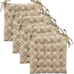 Chair Cushions Tie On Patio Leg Protectors Set Of 4 Cotton Indoor Reversible Pads And Ties