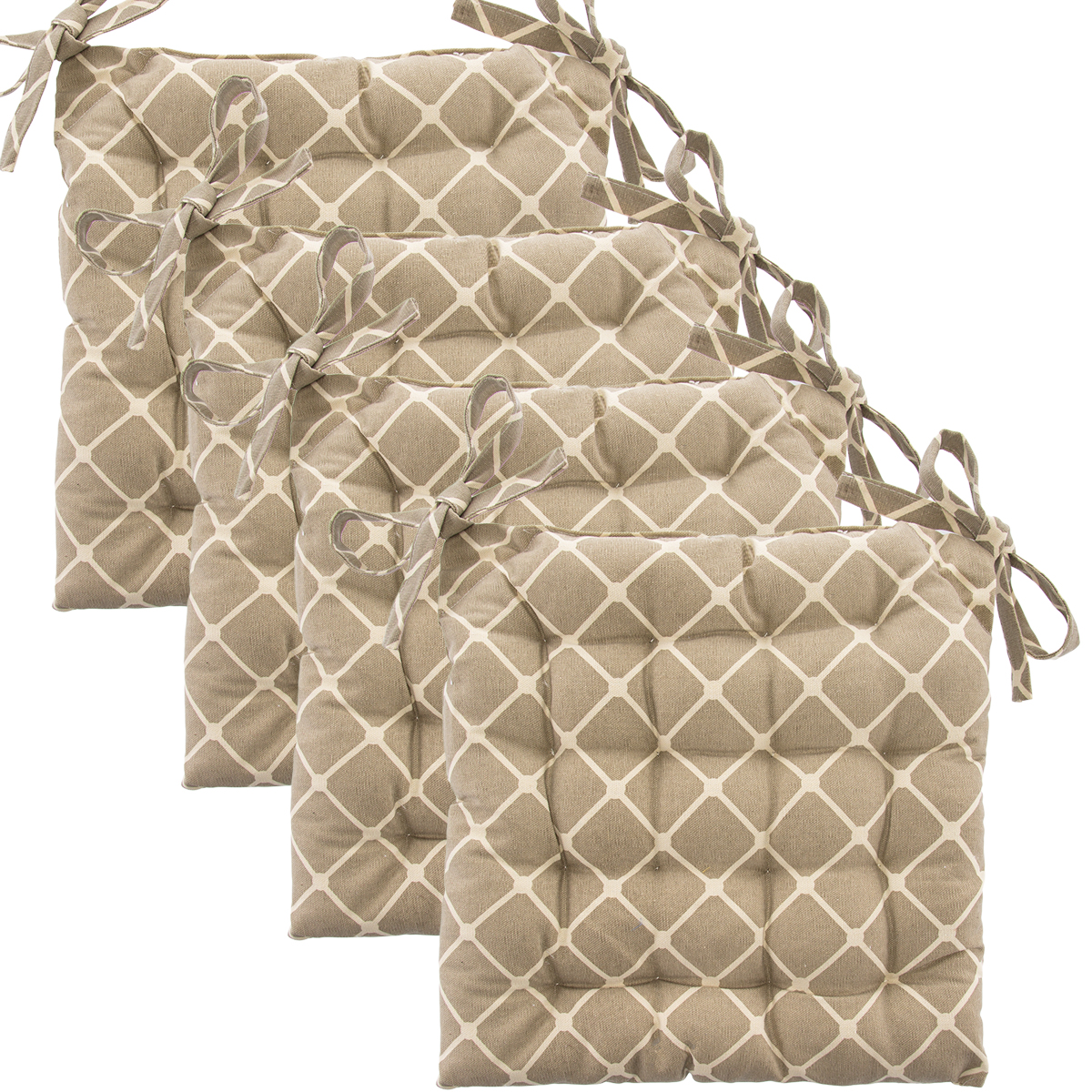 dining chair cushions with ties sears canada covers set of 4 cotton indoor reversible pads and