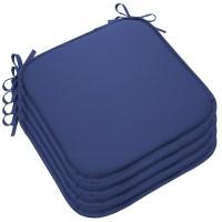Set Of 4 Outdoor Memory Foam Chair Cushions Seat Pads Ties ...