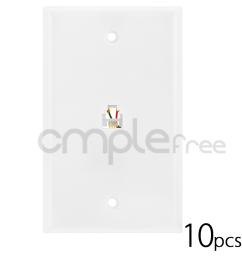 details about 10pcs white 6p4c phone jack wall plate rj 11 rj 12 telephone modular lot new [ 1000 x 1000 Pixel ]