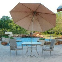 Patio Umbrella: Gray Patio Umbrella