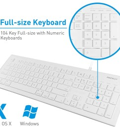 details about macally mkeye full size wired usb keyboard mouse for mac pc desktop laptop [ 1500 x 1328 Pixel ]