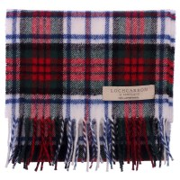 New Long Neck Tartan Scarf Scottish Lochcarron Wool Scarf