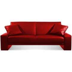 Red Leather Sleeper Sofa How To Install Cover Bed Designer Faux Supra 2 Seater