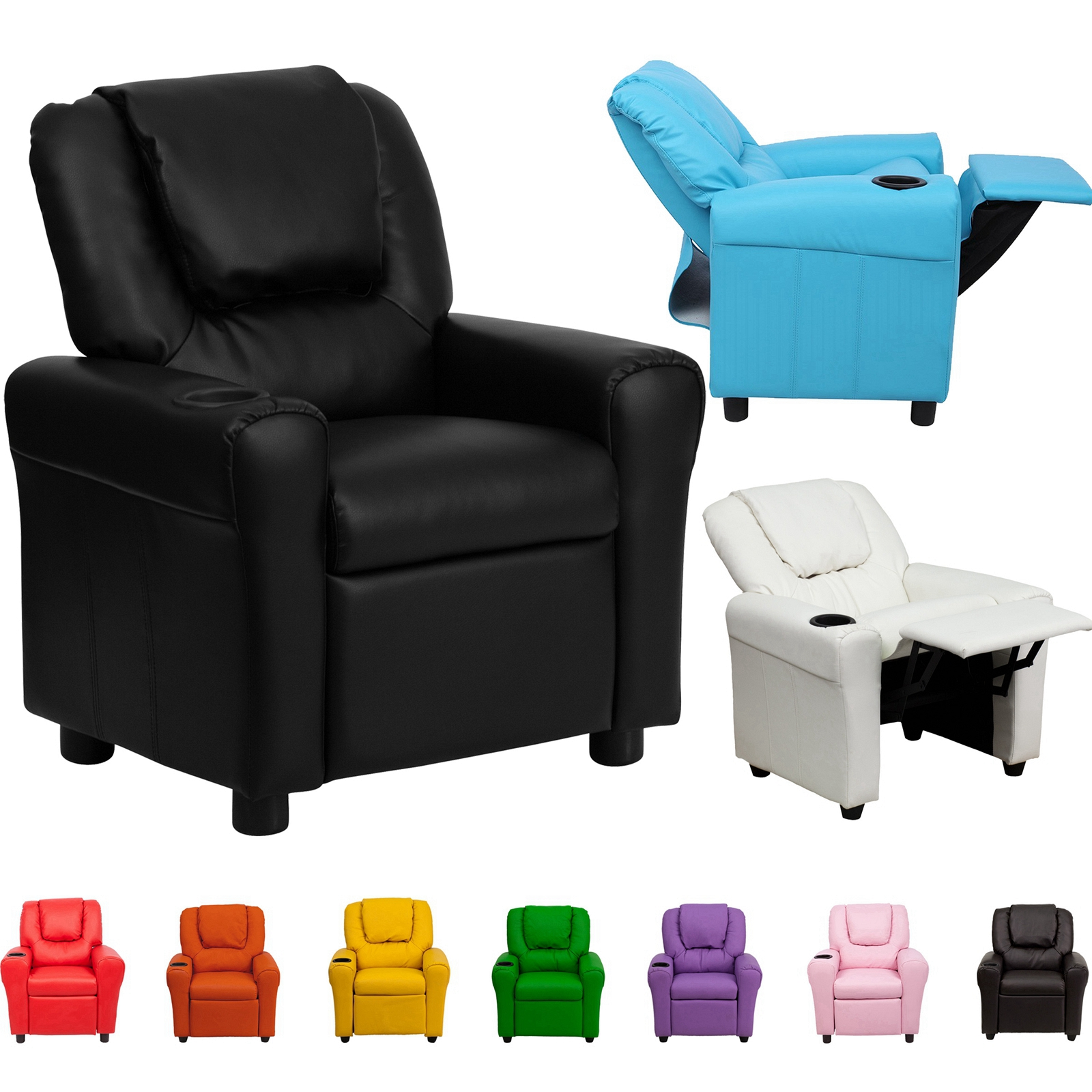 lounge chairs for kids knoll generation chair children recliner premium kid pu leather