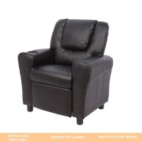 Kids Children Recliner Premium Kid Leather Lounge Chair