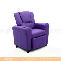 Kids Children Recliner Premium Kid Leather Lounge Chair ...