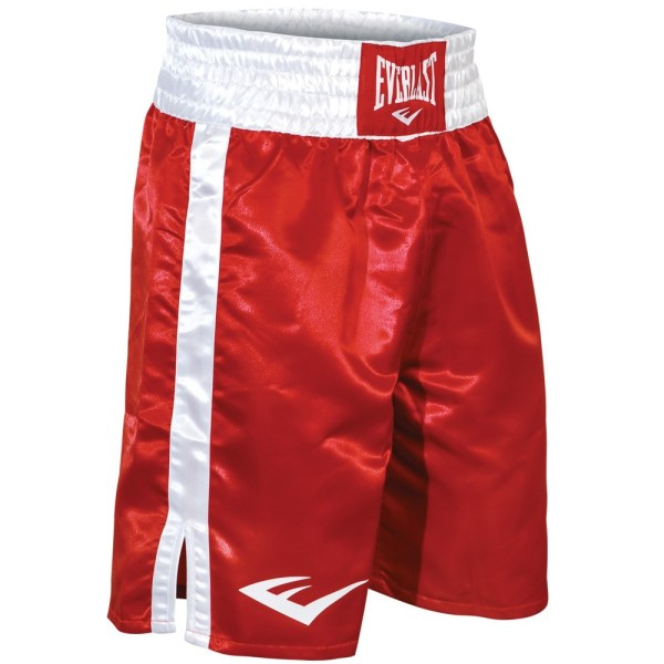 Everlast Standard Top Of Knee Boxing Trunks - 2xl Red