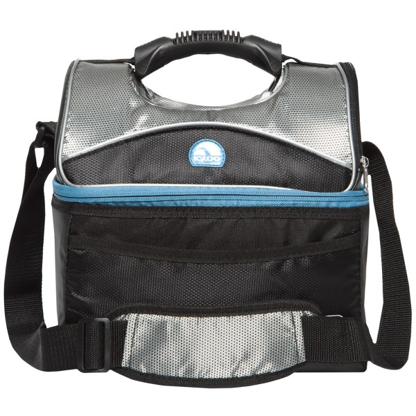 Igloo Maxcold Gripper 16 Lunch Box - Black Silver Blue