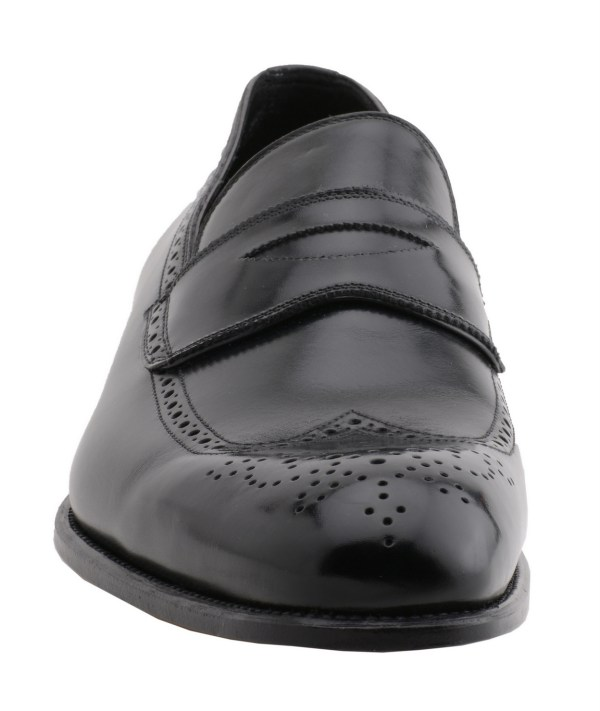 Tom Ford Men' Wingtip Loafer Leather Shoes J0814t Black Sz 10.5t