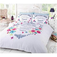 French Paris Duvet Cover - Shabby Chic Floral Butterfly ...