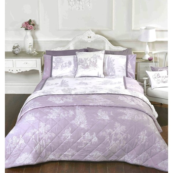French Country Inspired Toile De Jouy Duvet Cover Set With