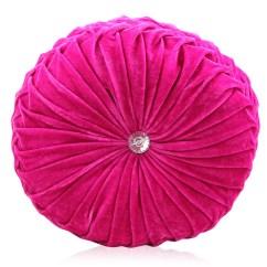 Round Chair Cushions 14 Inch Aldi Garden Covers Velvet Purple Pink Luxury Diamante Chic