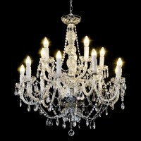 Modern Luxury 14 Arms Crystal Style Acrylic Large ...