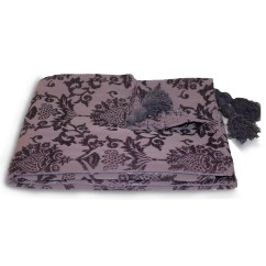 Damask Sofa Bed Best Contemporary Sofas Chenille Throw Over Paoletti Modern Blanket