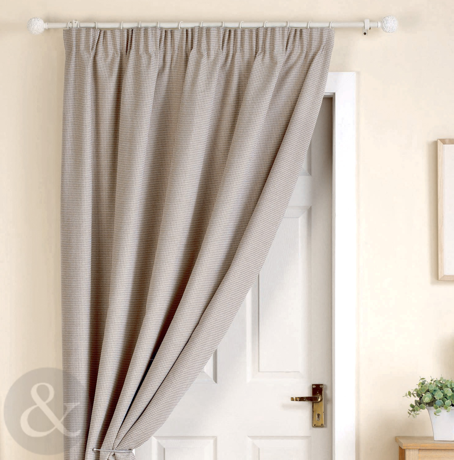 Thick Heavy Door Curtains Ready Made Thermal Lined 66 X 84 Door