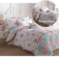 Shabby Country Chic Duvet Cover With Flowers - Reversible ...