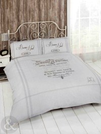 French Shabby Chic Duvet Cover - Luxury Natural Beige Grey ...
