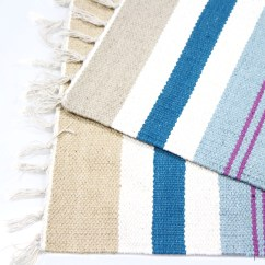 Striped Kitchen Rug Design Gallery Colourful 100 Cotton Flat Woven 55x85cm