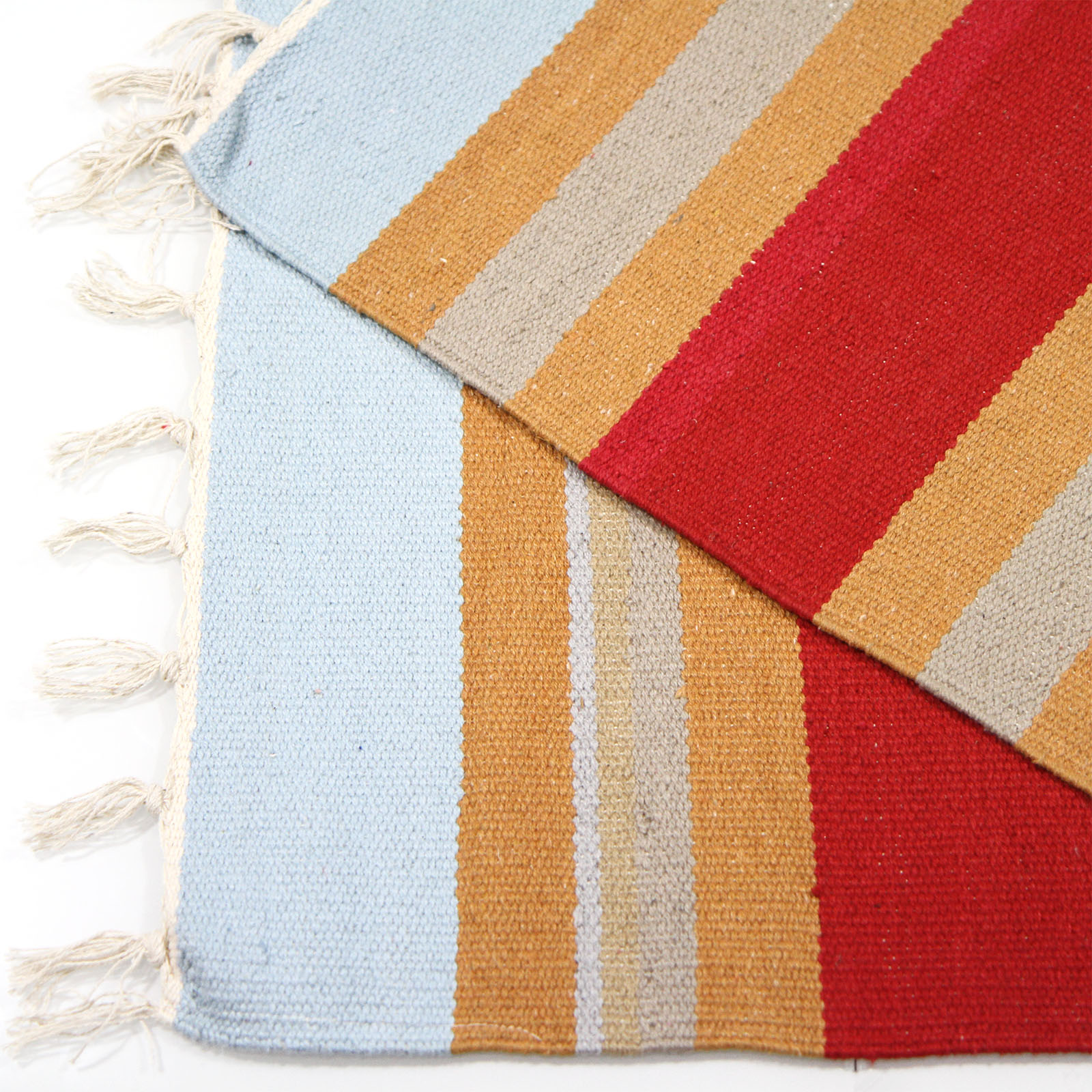 striped kitchen rug outdoor layout colourful 100 cotton flat woven 55x85cm