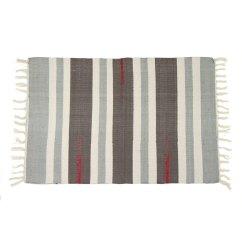 Striped Kitchen Rug Granite Island Table Colourful 100 Cotton Flat Woven 55x85cm