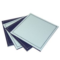 Reversible Square Faux Leather Drink Coaster Mats