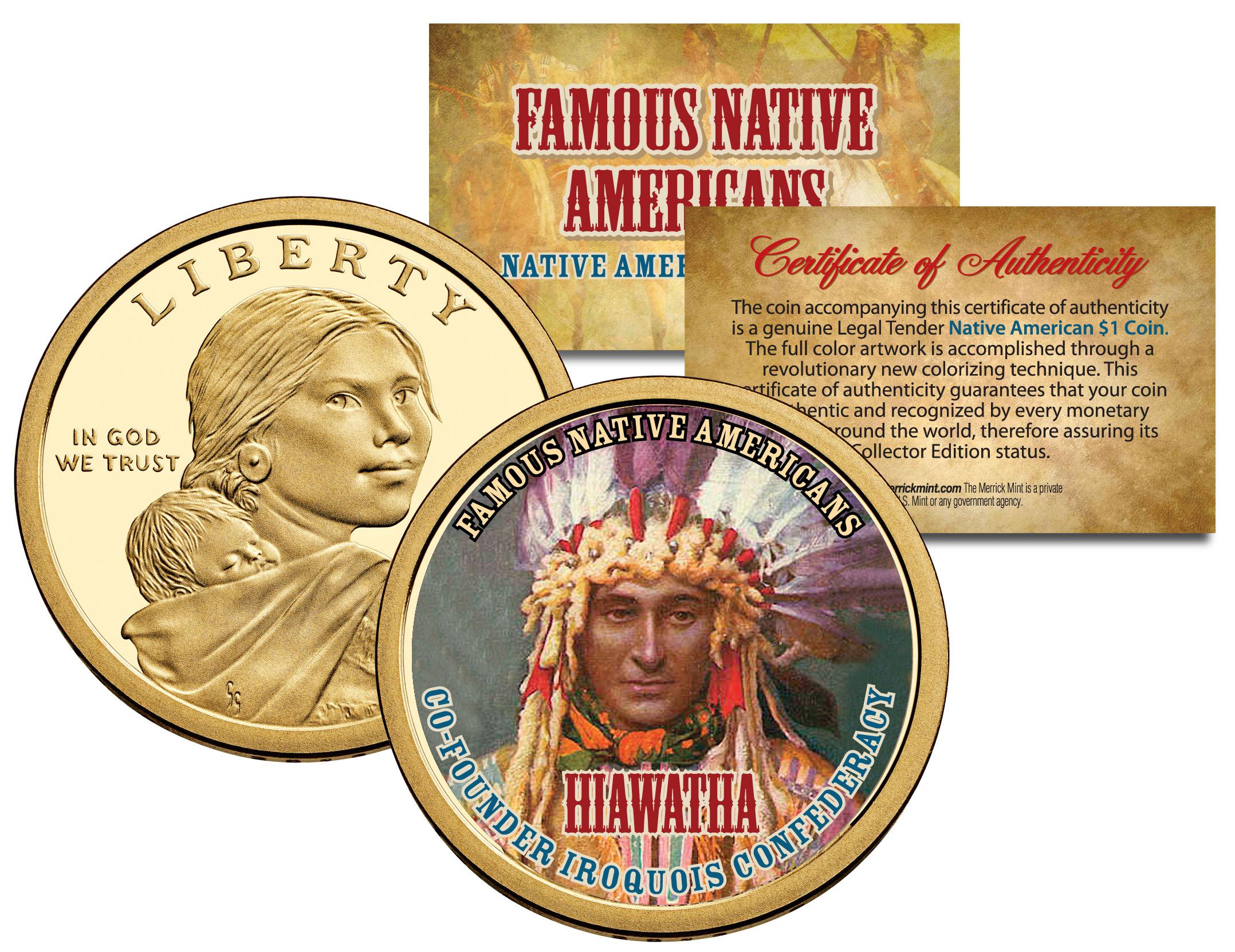 Hiawatha Famous Native Americans Sacagawea Dollar Us