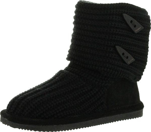 Bearpaw Girls Knit Tall Youth 658y Boots