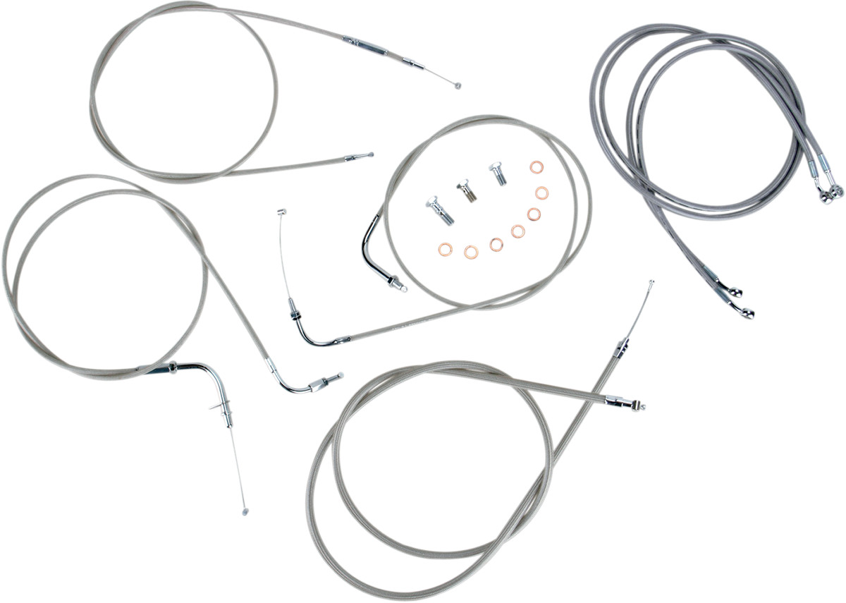Baron Custom SS Cable Kit For Yamaha V-Star 1100 Custom 99