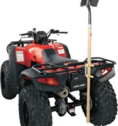 moose utility division atv rack tool shovel rake holder carrier vertical [ 867 x 1200 Pixel ]