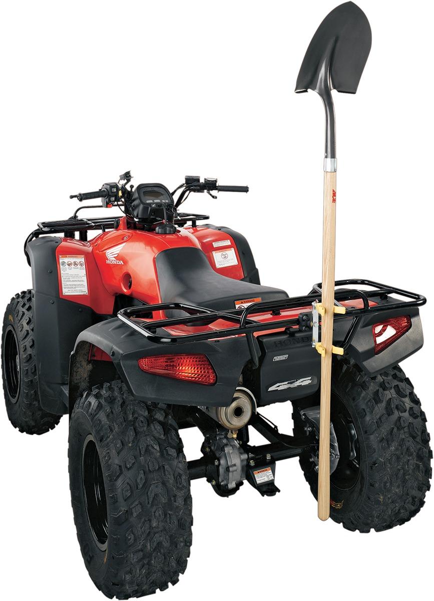 hight resolution of moose utility division atv rack tool shovel rake holder carrier vertical
