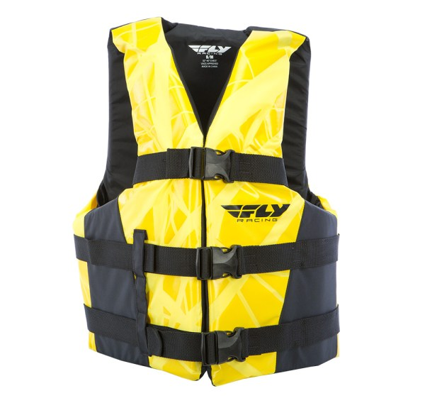 Fly Racing Unisex Adult Pwc Nylon Life Vest Jacket Black