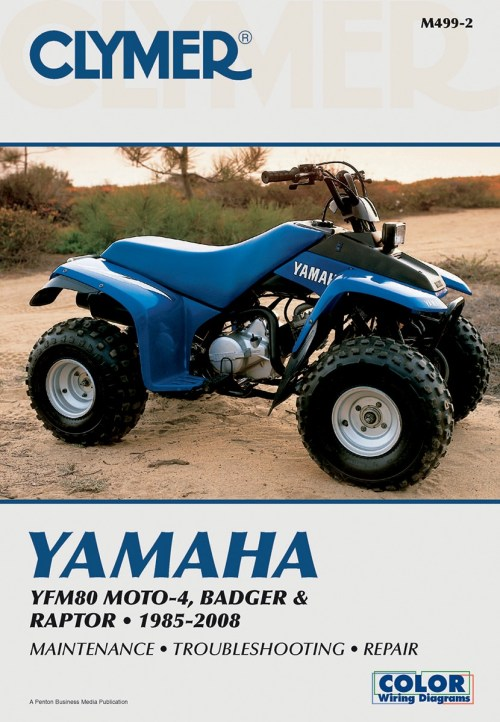 small resolution of clymer repair manual for yamaha badger moto 4 raptor 80 85 08 m499 2clymer repair manual