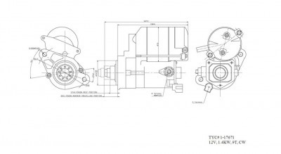 Starter for 95-04 Toyota Tacoma Pickup 3.4L V6 Manual