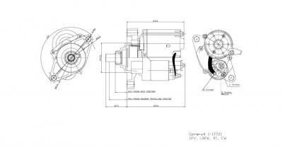 New Starter for 98-00 Honda Civic 1.6L L4 Manual