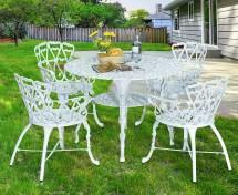 Antique Victorian Cast Aluminum Patio Dining Chairs