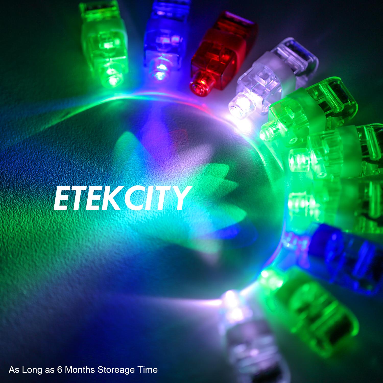 Etekcity WHOLESALE100PCS LED Finger Light Up Ring Laser