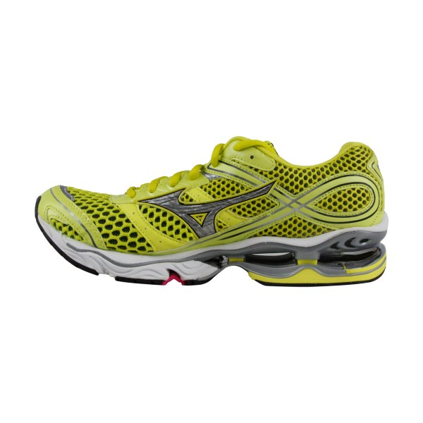 Mizuno Wave Creation 13 Womens Yellow Mesh Athletic Lace
