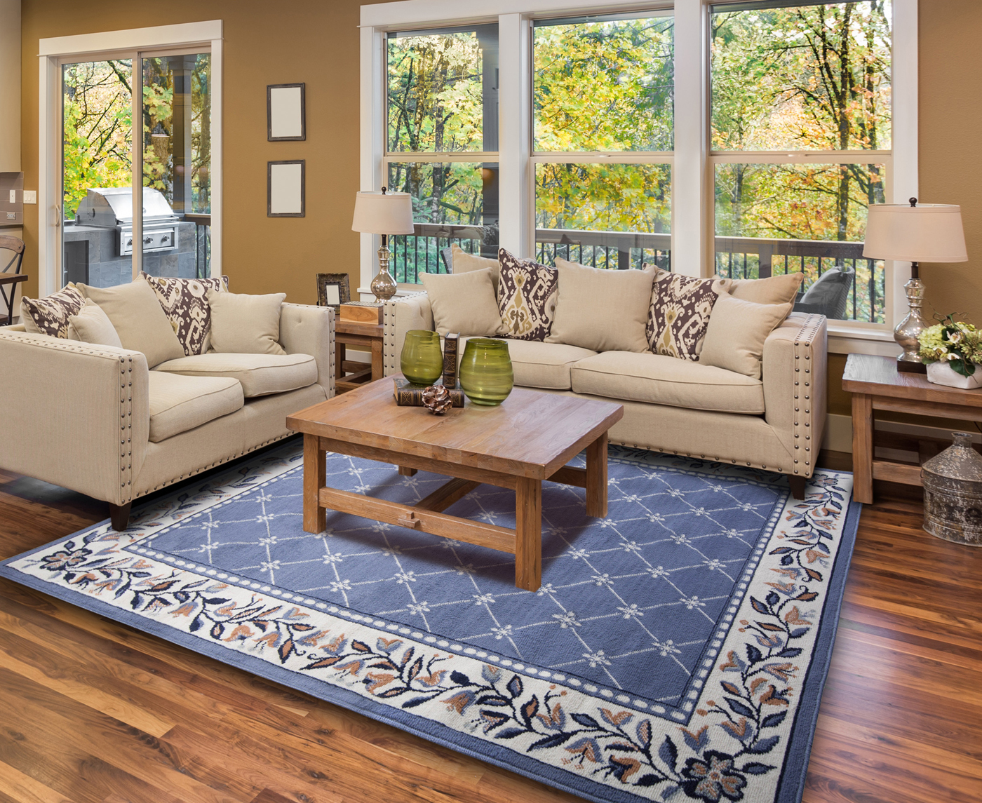 blue persian rug living room images of small country rooms oriental area 5 x 8 medium carpet 15 actual 2 7 4