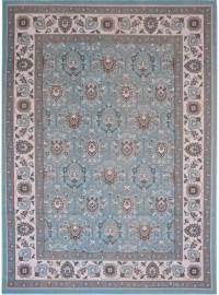 Rugs Area Rug Traditional Aqua Gray Persian Oriental ...
