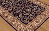 Navy Blue Traditional Oriental Border Area Rug Vines ...