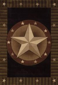 Black Southwestern Carpet Bordered Texas Stars Stripes ...