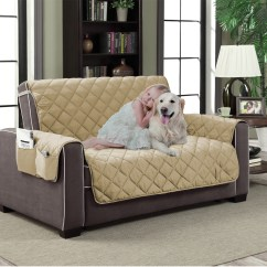 Sofa Protectors For Pets Wingback Furniture Beige Microfiber Slipcover Pet Dog Reversible