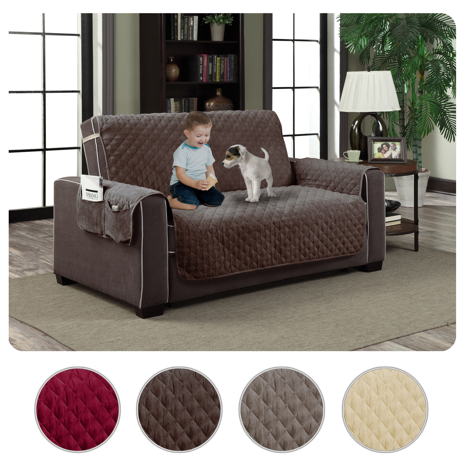 sofas for dogs uk sectional vs sofa set micro suede slipcover pockets pet dog couch furniture