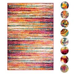 2x3 Kitchen Rug Little Girl Sets Modern Contemporary Area Rugs Multi Geometric Swirls ...