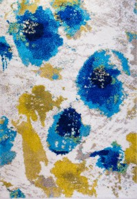 Abstract Multi-Color Modern Area Rug Contemporary Bright ...
