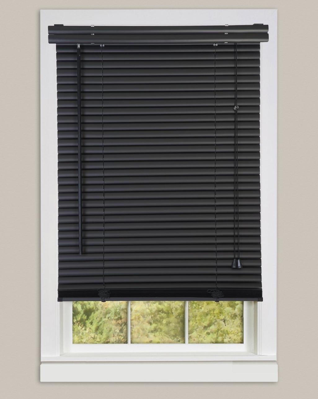 Window Blinds Mini Blinds 1 Slats Black Venetian Vinyl